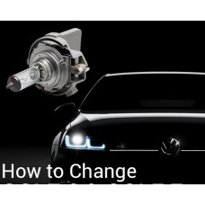 Volkswagen Golf 6/Golf 7 LED Headlight Bulbs Change And Install Instruction